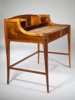 L on Jallot Leon Jallot Sculpted Walnut Desk and Chair - 1549786
