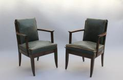 L on Jallot SET OF EIGHT FINE FRENCH ART DECO OAK ARMCHAIRS BY LEON AND MAURICE JALLOT - 745907