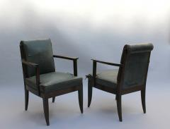 L on Jallot SET OF EIGHT FINE FRENCH ART DECO OAK ARMCHAIRS BY LEON AND MAURICE JALLOT - 745908