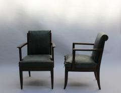 L on Jallot SET OF EIGHT FINE FRENCH ART DECO OAK ARMCHAIRS BY LEON AND MAURICE JALLOT - 745912