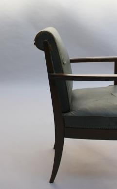 L on Jallot SET OF EIGHT FINE FRENCH ART DECO OAK ARMCHAIRS BY LEON AND MAURICE JALLOT - 745915