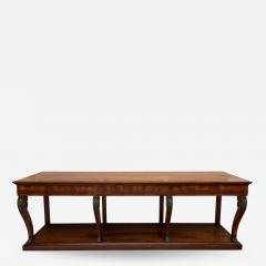 LARGE EARLY 19TH CENTURY FRENCH FRUITWOOD CONSOLE TABLE CIRCA 1825 - 1793854