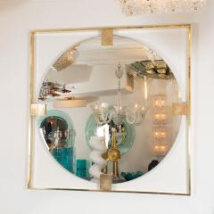 LINEAR BRASS CHANDELIER FEATURING FROSTED WHITE GLASS GLOBES - 1044570