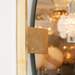 LINEAR BRASS CHANDELIER FEATURING FROSTED WHITE GLASS GLOBES - 1044572