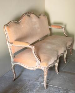 LOUIS XV PAINTED BEECH CANAP OR SOFA - 1793006
