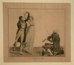 La Folie Du Jour Engraving France Circa 1797 - 1643368
