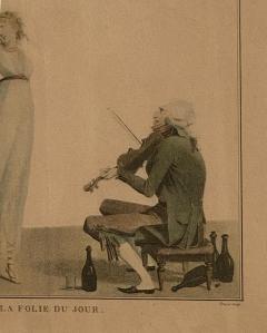 La Folie Du Jour Engraving France Circa 1797 - 1643369