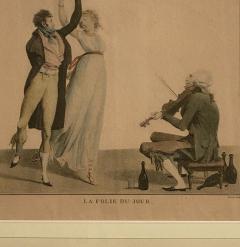 La Folie Du Jour Engraving France Circa 1797 - 1643371