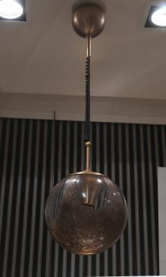 La Murrina A pair of Brass and Murano Glass Ceiling Lamps by la Murrina Italy 60 - 1084395