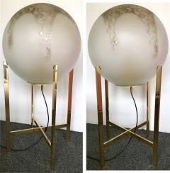 La Murrina Brass Floor Lamps by La Murrina Murano Glass Italy 1990s - 903090