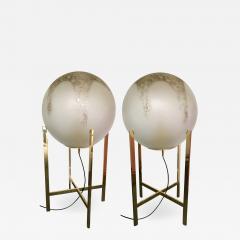 La Murrina Brass Floor Lamps by La Murrina Murano Glass Italy 1990s - 903537