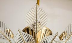 La Murrina Italian 15 Light Glass Chandelier Decorated with Leaf Motif La Murrina 1970s - 2132959