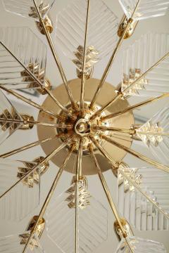 La Murrina Italian 15 Light Glass Chandelier Decorated with Leaf Motif La Murrina 1970s - 2132962