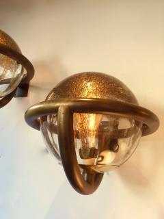 La Murrina Pair of Sconces by La Murrina Murano Glass 1980s Italy - 523695