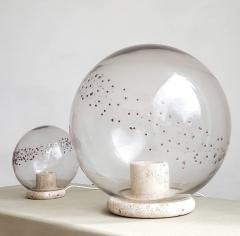 La Murrina Table lamps in travertine and blown glass - 2071465