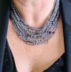 Labradorite and Multistone Multi Strand Pearl Neacklaces with Bakelite Clasp - 1209180