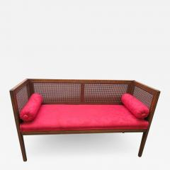 Lacquered Wood Painted Cane Upholstery - 1686527