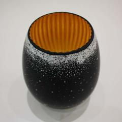 Lacquered Wood and Gold Sculpture Egg Black Hole - 1608579