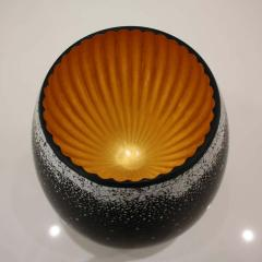 Lacquered Wood and Gold Sculpture Egg Black Hole - 1608580