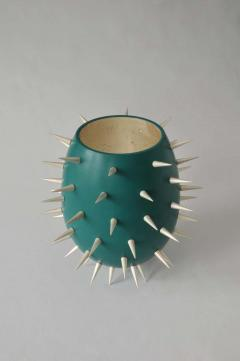 Lacquered Wood and White Gold Sculpture Cactus - 1598733