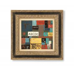 Lacquered linoleum abstract art By Pierre Bourdelle  - 785557