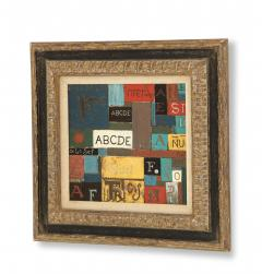 Lacquered linoleum abstract art By Pierre Bourdelle  - 785558
