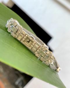 Ladies Platinum Patek Phillip Diamond Watch - 1933070
