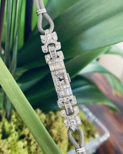 Ladies Platinum Patek Phillip Diamond Watch - 1933071