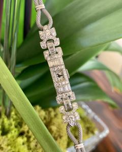 Ladies Platinum Patek Phillip Diamond Watch - 1933073