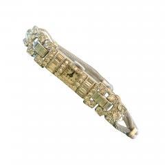 Ladies Platinum Patek Phillip Diamond Watch - 1934895