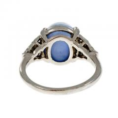 Lambert Brothers 9 80 Carat Star Sapphire Diamond Platinum Ring - 315067
