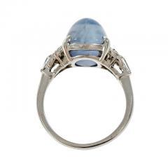 Lambert Brothers 9 80 Carat Star Sapphire Diamond Platinum Ring - 315068