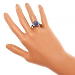 Lambert Brothers 9 80 Carat Star Sapphire Diamond Platinum Ring - 315069