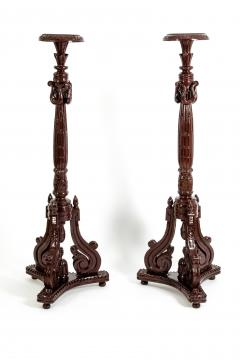 Laminated Wood Georges III Style Pedestal Stand - 1125599