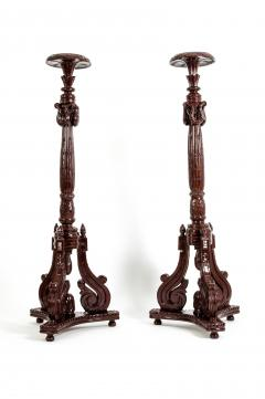 Laminated Wood Georges III Style Pedestal Stand - 1125604