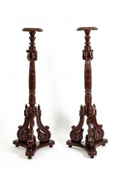 Laminated Wood Georges III Style Pedestal Stand - 1125619