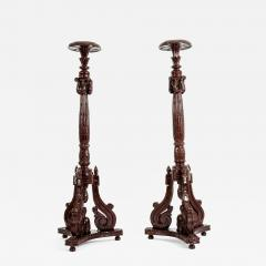 Laminated Wood Georges III Style Pedestal Stand - 1126334