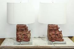 Lamp Fashioned from Carved Capital - 1466840