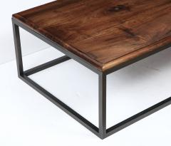 Lance Thompson 18th C Italian Thick Walnut Coffee Table Detailed Edge Solid Blackened Base - 1062424
