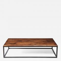 Lance Thompson 18th C Italian Thick Walnut Coffee Table Detailed Edge Solid Blackened Base - 1063130