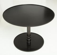 Lance Thompson The Pedestal Table Hand Blackened Patina Cast Base Forged Edges - 937146