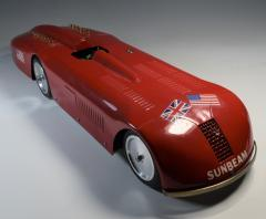 Land Speed Record Sunbeam Streamlined Race Car Daytona Beach - 1634752