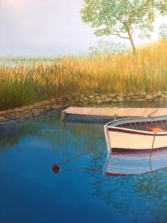 Landscape With Boat On The Lake - 1025005