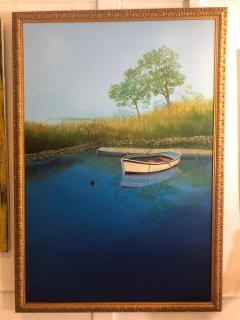 Landscape With Boat On The Lake - 1025009