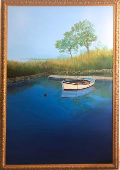 Landscape With Boat On The Lake - 1025010