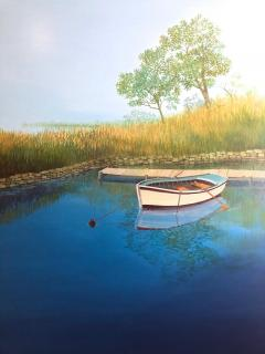 Landscape With Boat On The Lake - 1025011