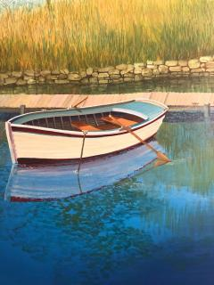 Landscape With Boat On The Lake - 1025012