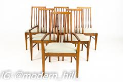 Lane First Edition Mid Century Walnut Spindle Back Dining Chairs Set of 6 - 1870187