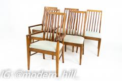 Lane First Edition Mid Century Walnut Spindle Back Dining Chairs Set of 6 - 1870188
