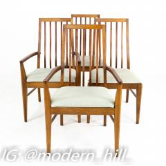Lane First Edition Mid Century Walnut Spindle Back Dining Chairs Set of 6 - 1870189